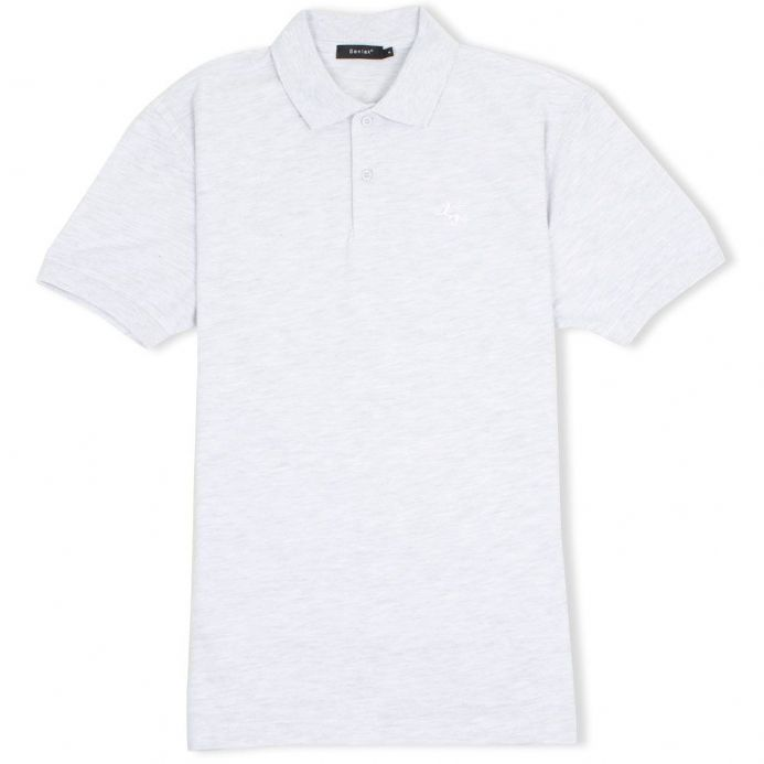 Senlak Classic Pique White Dragon of the English Polo Shirt - Ash Grey